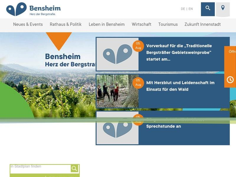 Screenshot von www.bensheim.de