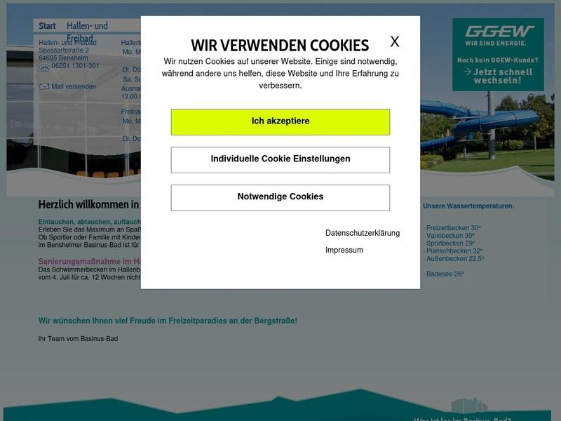 Screenshot von www.basinus-bad.de